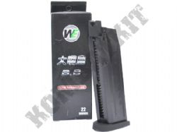 BB-001-MAG WE Europe Airsoft M&P Toucan Big Little Bird 22 x 6mm Round Gas Magazine Black Metal